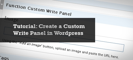 Creating Write Panels in WordPress