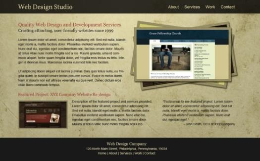 Free PSD for Portfolio Site