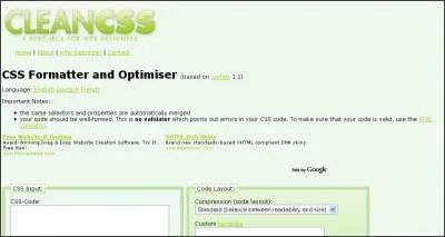 Clean CSS Screen Shot