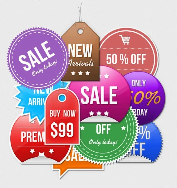 Sale Stickers PSD