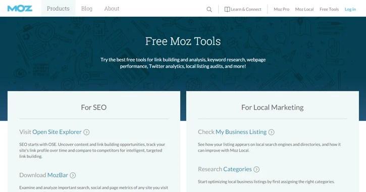 moz tools checker