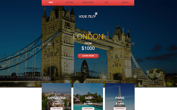 Travel Agency Free Responsive Template