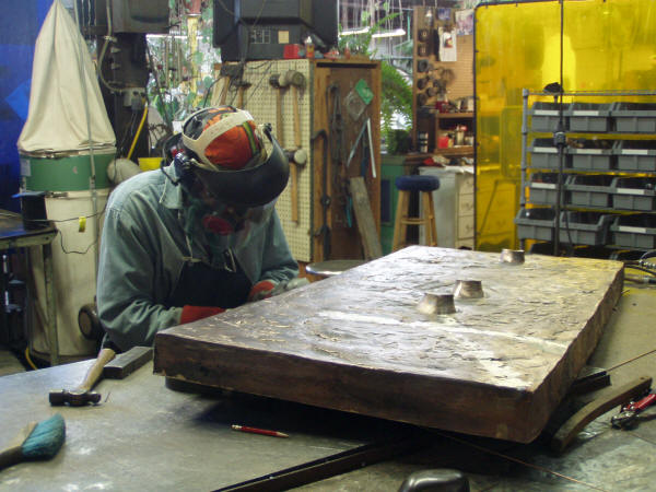 "Chris Andrews Metal Finishing Alex King's ""Steeple Chase"" Base"