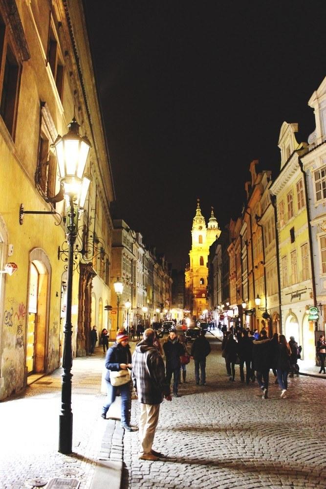 Prag-bei-Nacht-Touristenattraktionen