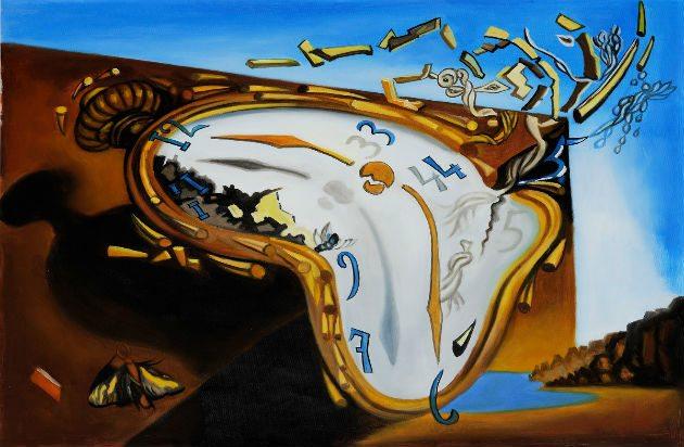 Tiempo relojes blandos de una obra de Dalí surge la reflexión