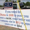Obama-Sign-Billboard-Voted-Obama-Racist-Idiot