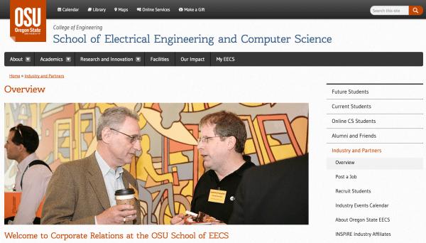 Oregon State EECS Website