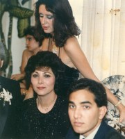 Sept 6, 1986 - Jamileh, Simin, and Ali at Tohra's wedding