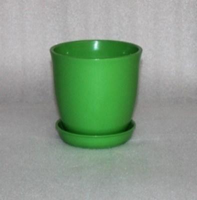 цветочный горшок Глория глянец зеленый