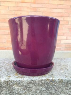 цветочный горшок Глория глянец темный фиолетовый