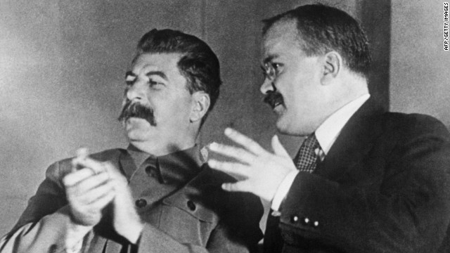 Joseph Stalin and Vyacheslav Molotov