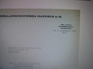 Raoul Wallenberg's Letterhead