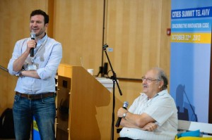 Eze Vidra and Yossi Vardi Tel Aviv cities summit