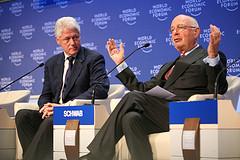 Klaus Schwab, founder of World Economic Forum, introduces Bill Clinton