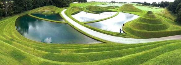 Life Mounds terraced earthworks by Charles Jencks