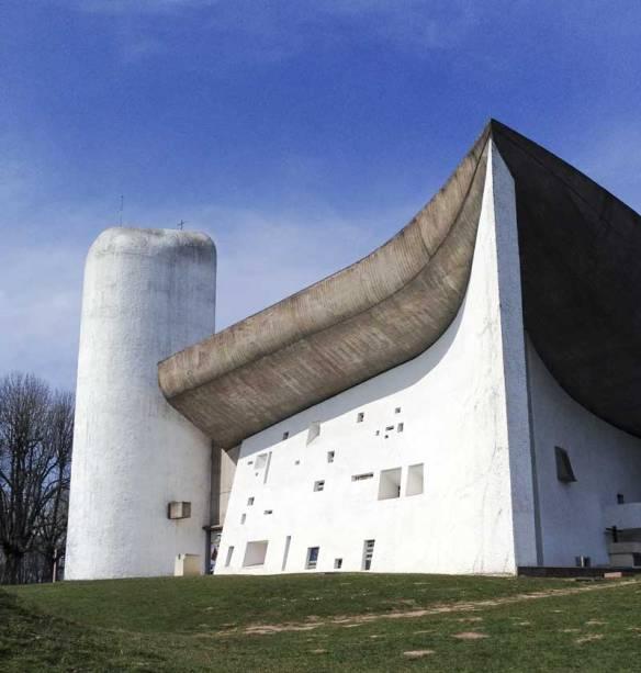 life long ambition fulfilled seeing Le Corbusier's La Ronchamp (Notre Dame du Haut)