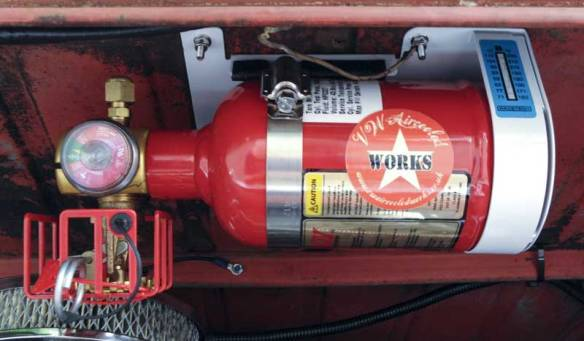 VW Aircooled Works clean gas automatic engine bay fire suppression system