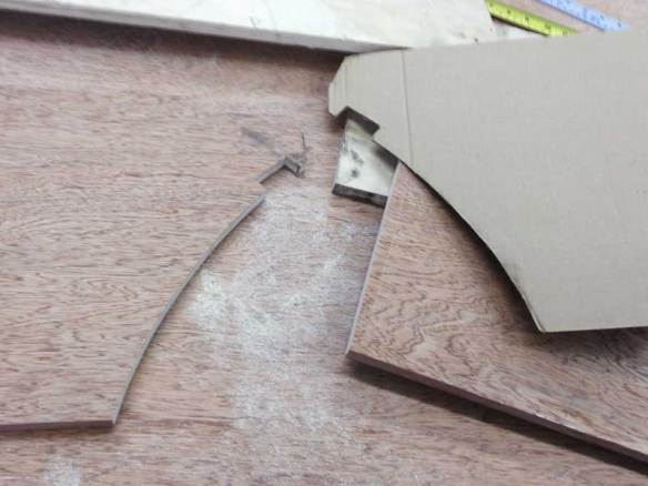 more fun with pencil, scissors and cardboard templates for the R'n'R Bed side supports