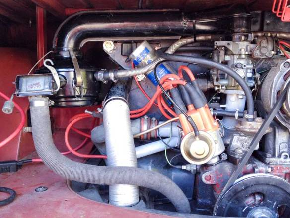 original oil bath air filter fitted in place