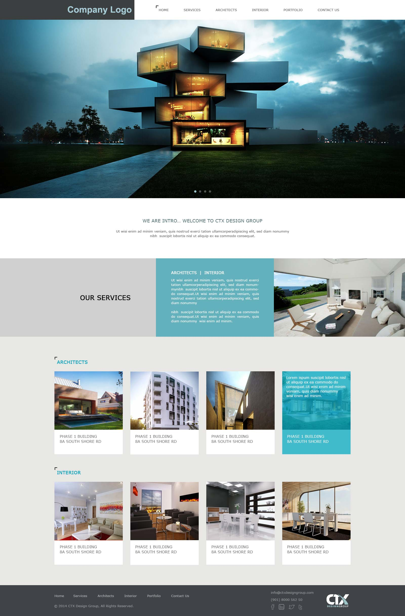 Architecture U0026 Interior Designing Website Template