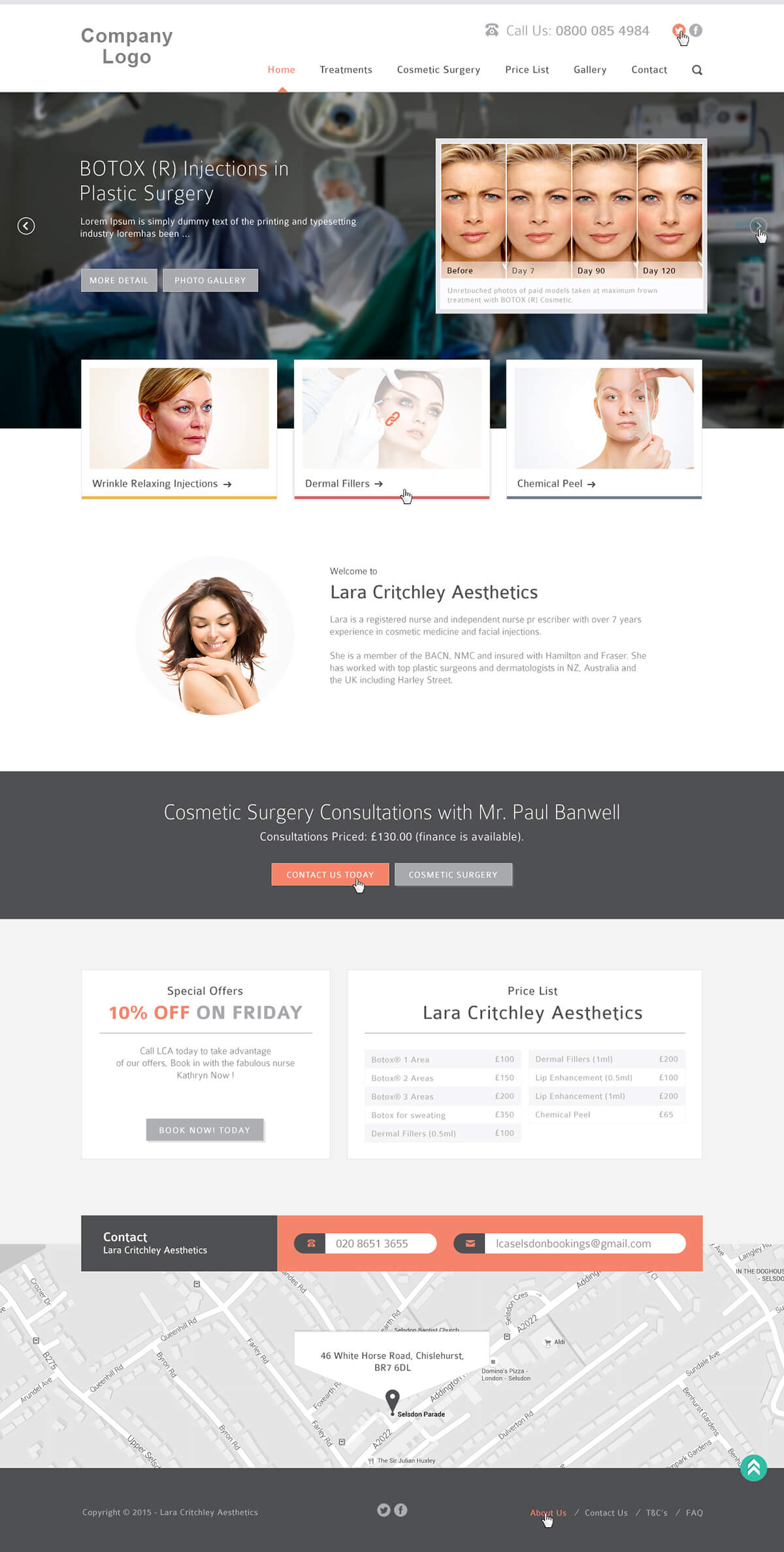 Cosmetic & Plastic Surgery Website Template