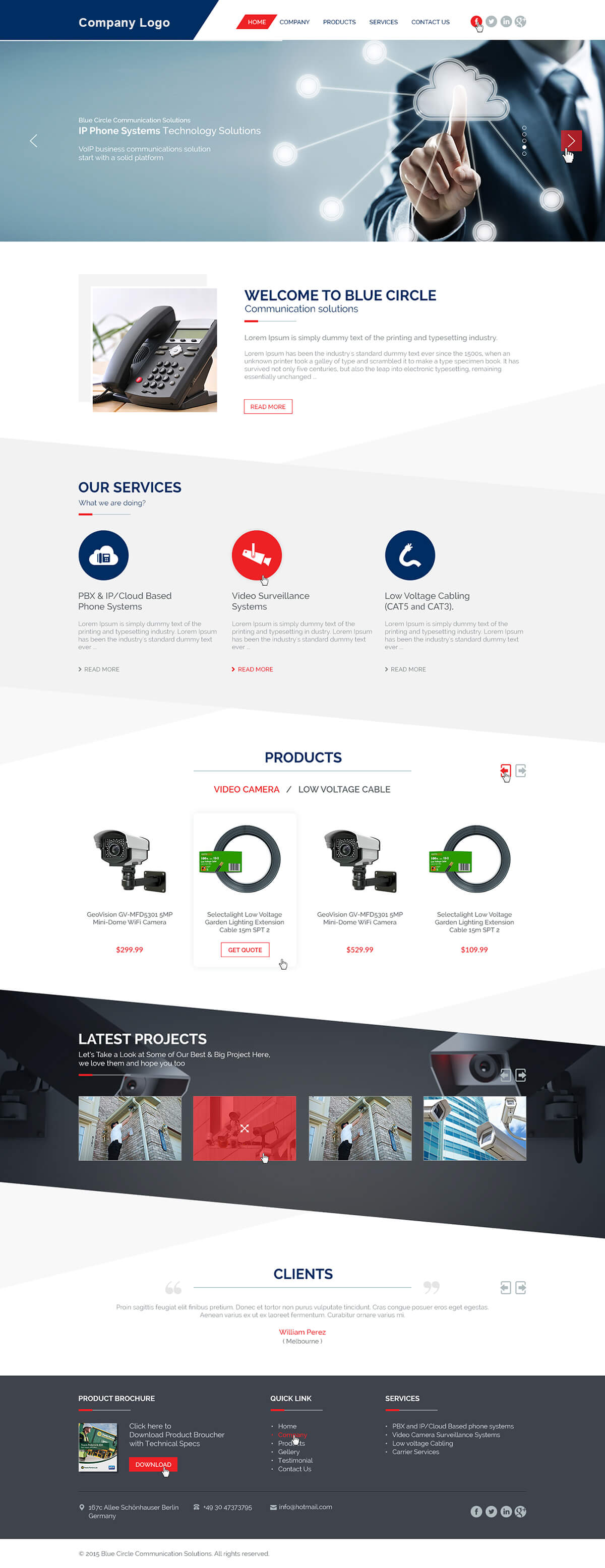 Small business website template ved web services get a quote flashek Gallery