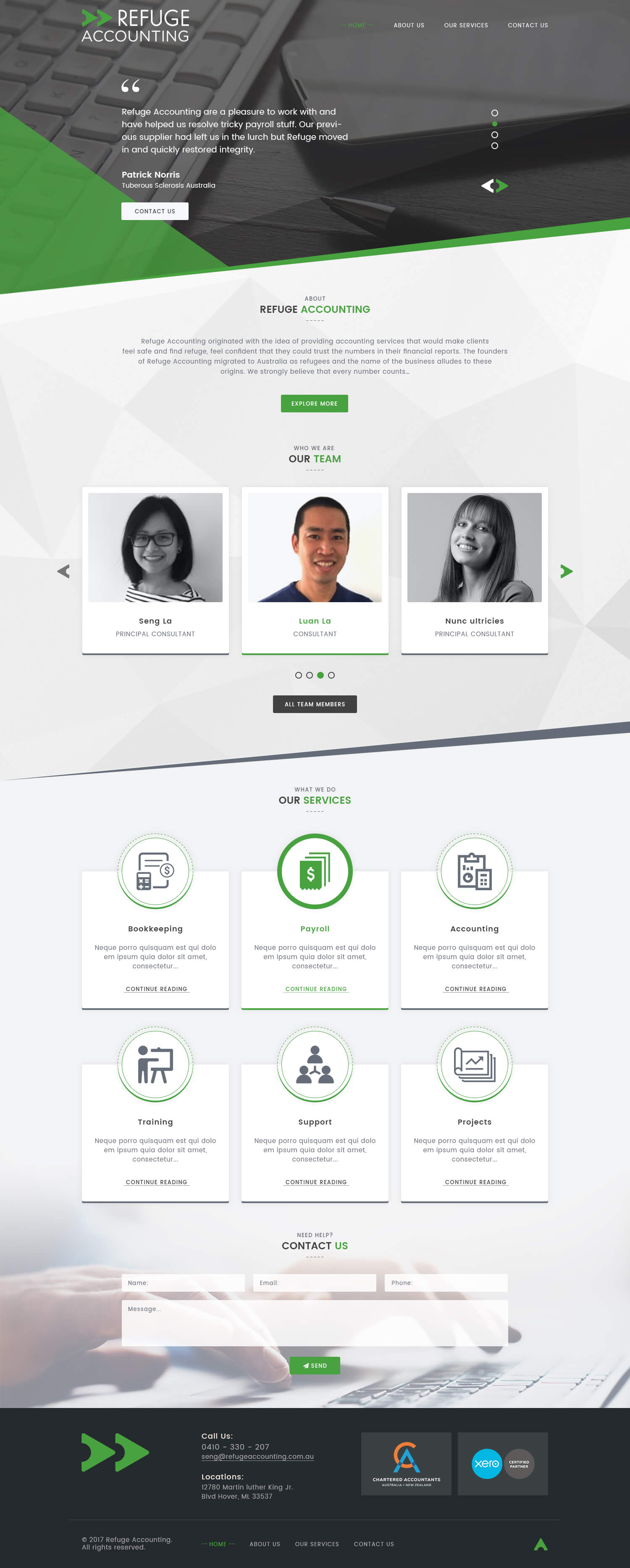 CA and Accounting Firm Website Templates
