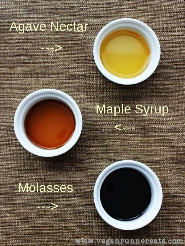 Vegan Kitchen Simplified. Natural Liquid Sweeteners: Agave Nectar, Maple Syrup and Molasses.