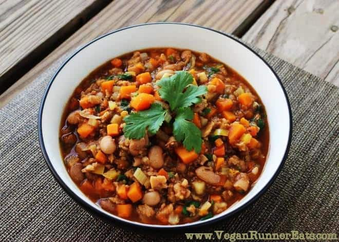 Sweet potato & TVP chili (2nd pic)