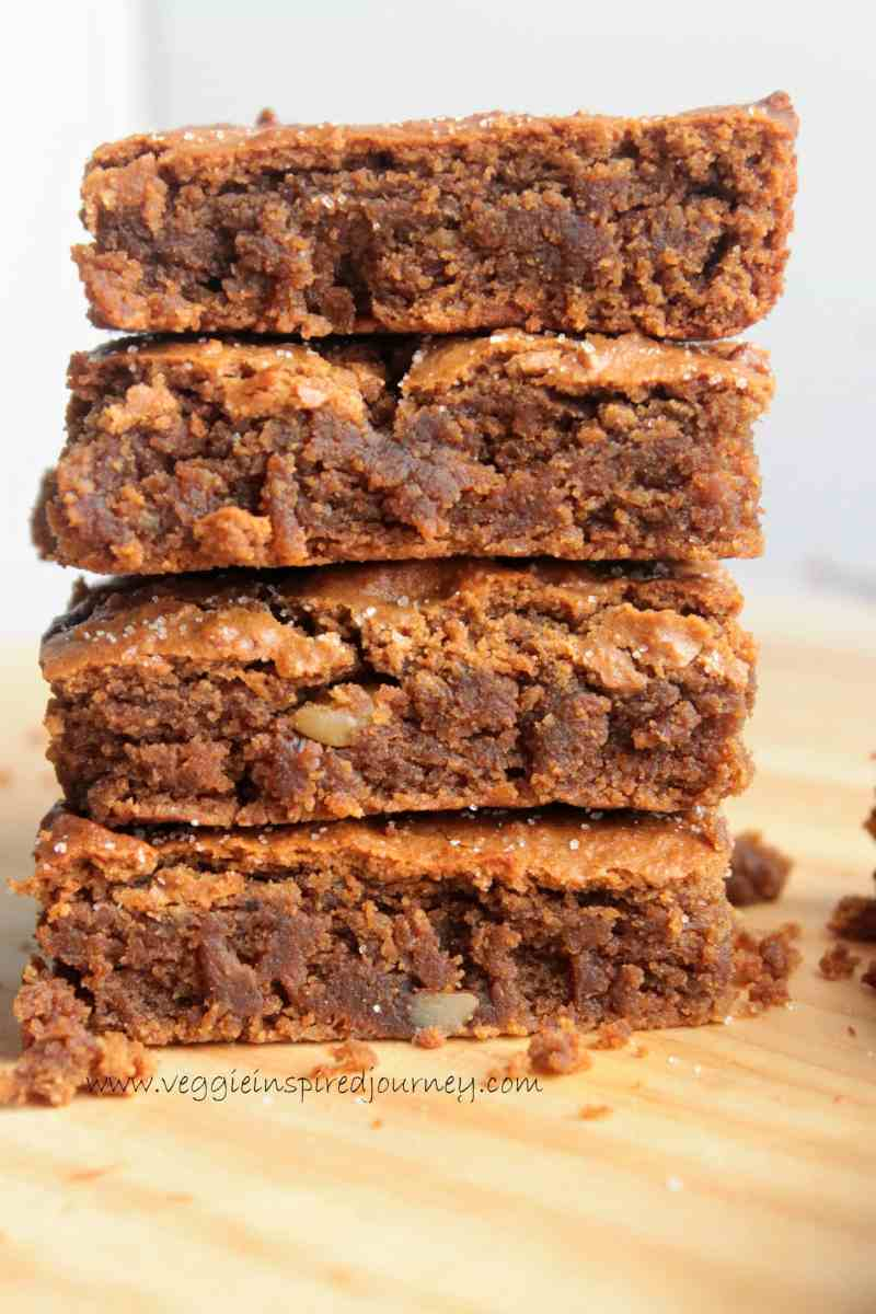 Cinnamon Chickpea Blondies (Gluten Free, Vegan)