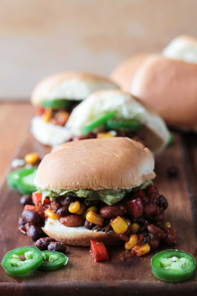 Meatless Mexican Sloppy Joes