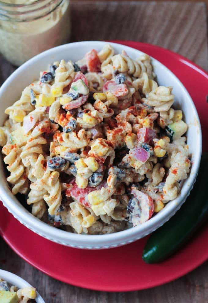 Southwest Black Bean Pasta Salad
