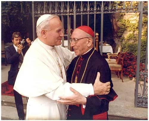 papa giovanni paolo II II con agostino casaroli