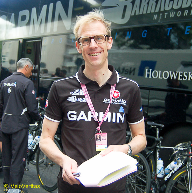 Charly Wegelius is on the staff with Garmin nowadays.