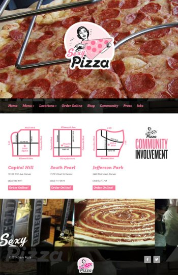 Sexy Pizza Website