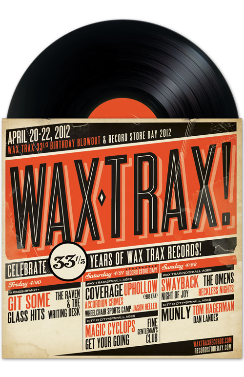 Wax Trax: Record Store Day 2012 Poster
