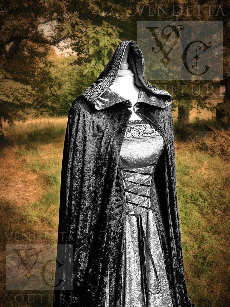vendettacouture medieval wedding dress Daylily medieval style dress