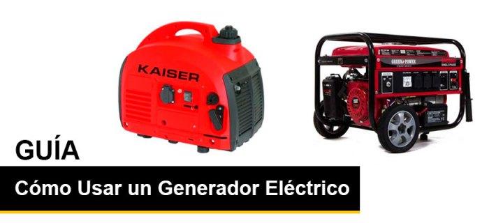 como usar un generador electrico