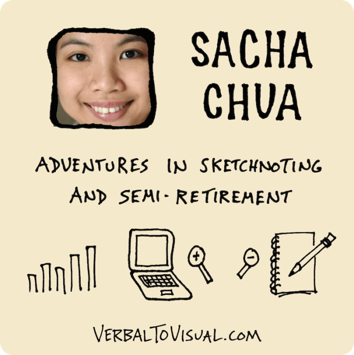 VTV 012 : Sacha Chua – Adventures In Sketchnoting And Semi-Retirement