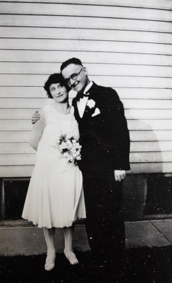 my nana's godparents, flapper wedding!
