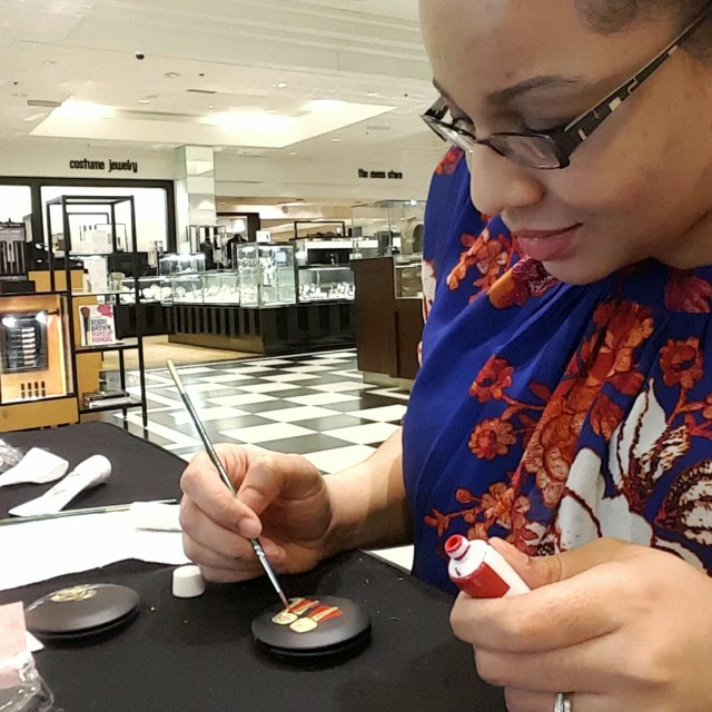veronica marche live painting bloomingdale's