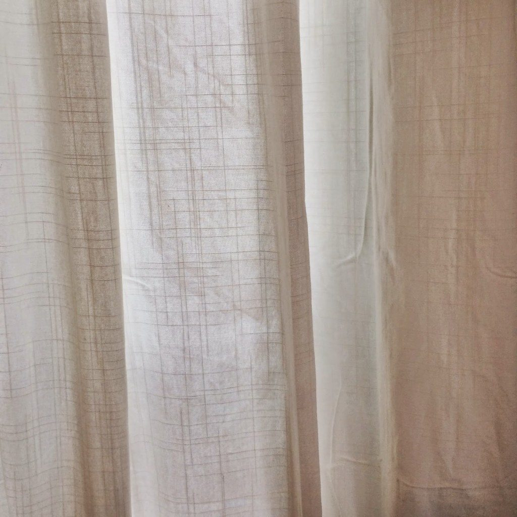 ikea 39 s ritva curtains in our open concept living room