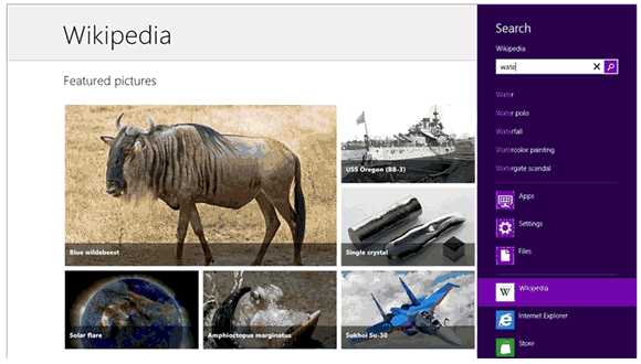 official Wikipedia for Windows 8