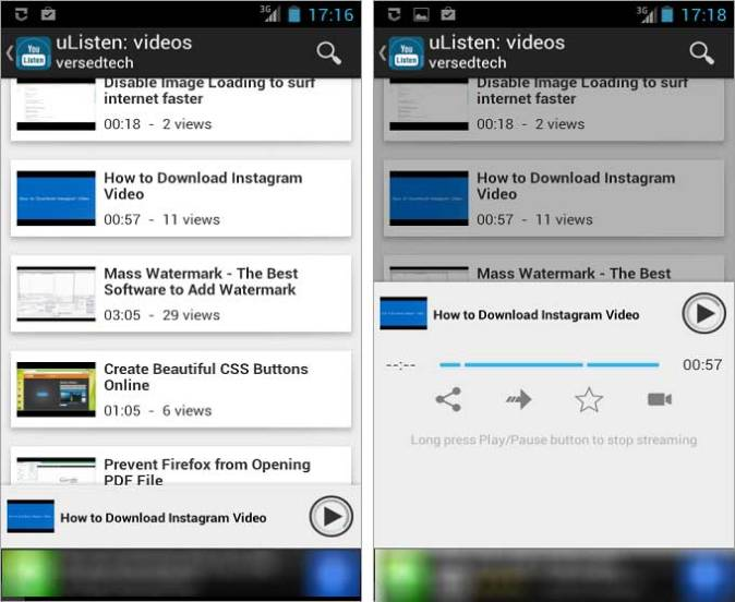 Listen Only Audio of Any YouTube Video