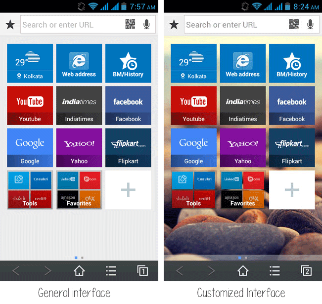 baidu browser interface