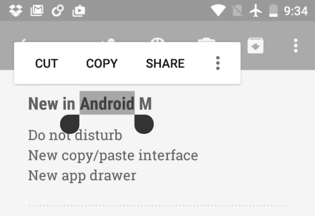 Better Word Selection Android Marshmallow