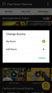 Add Rooms or Change Room in PEEL
