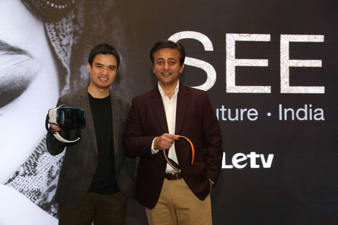 Dickson Lee, General Manager, APAC Smart Device of Letv and Anish  Kapoor, Head Smartphones Sales, Letv