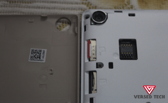 Asus ZenPad 8 Sim Layout