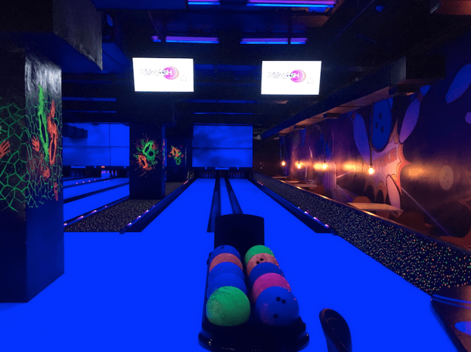 Bowling Court in SMAAASH, DLF Mall of India